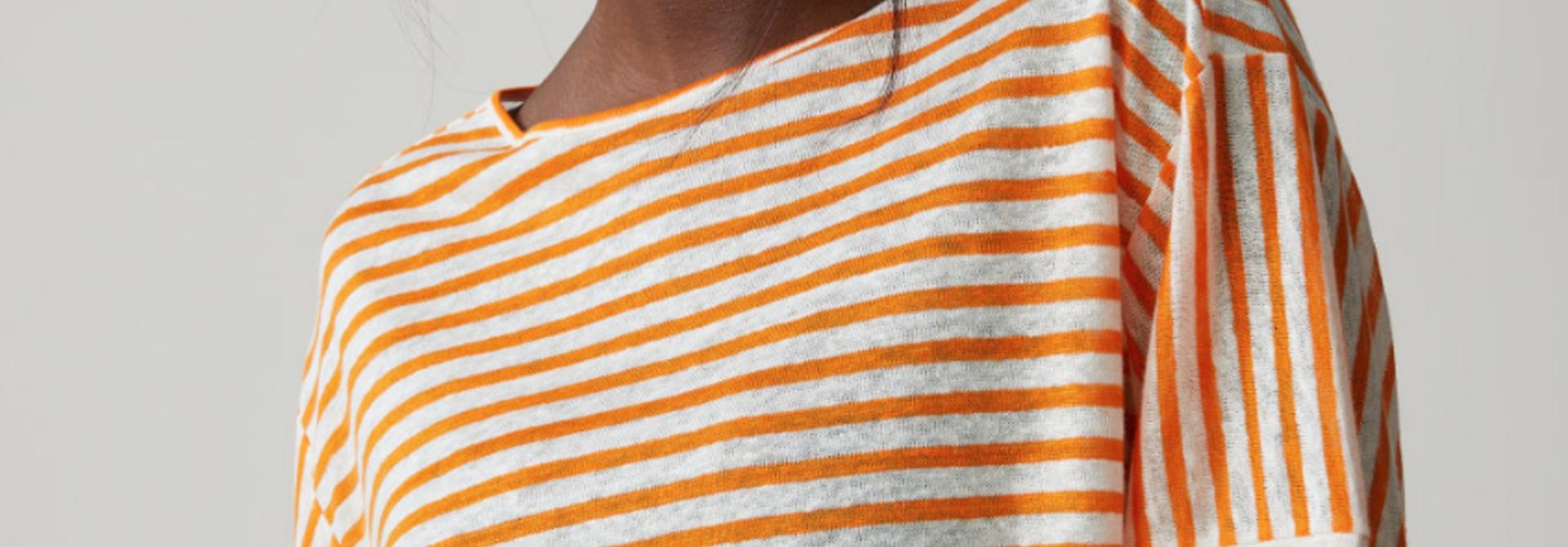 Striped linen t- shirt
