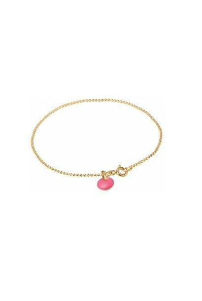 Bracelet ball chain pink