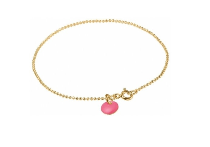 Bracelet ball chain pink-1