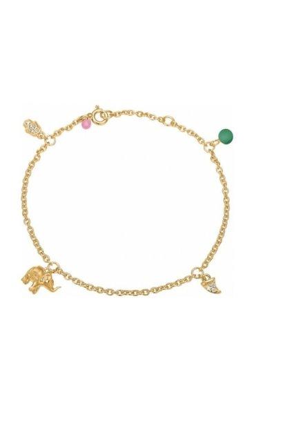 Bracelet lucky charm green