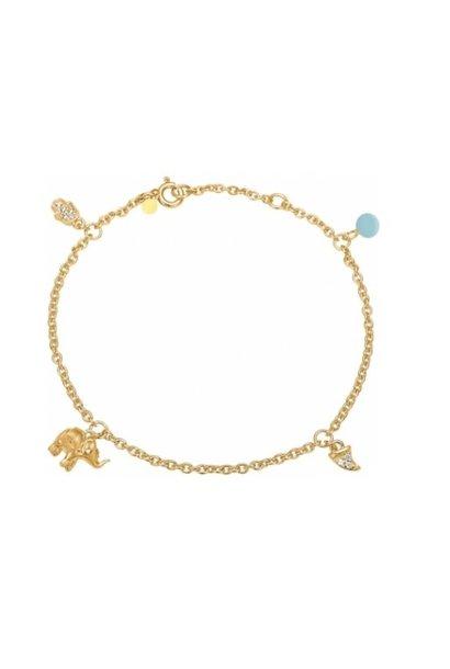 Bracelet lucky charm blue