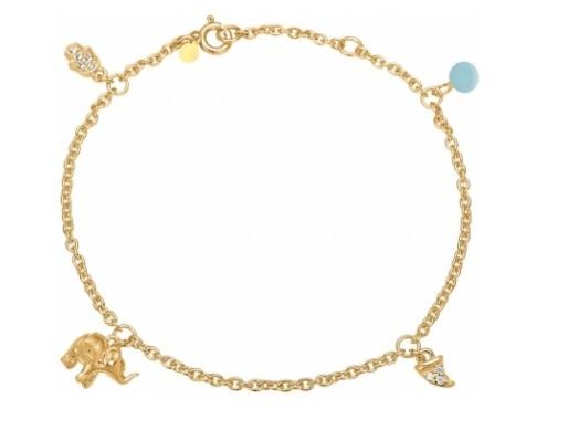 Bracelet lucky charm blue-1