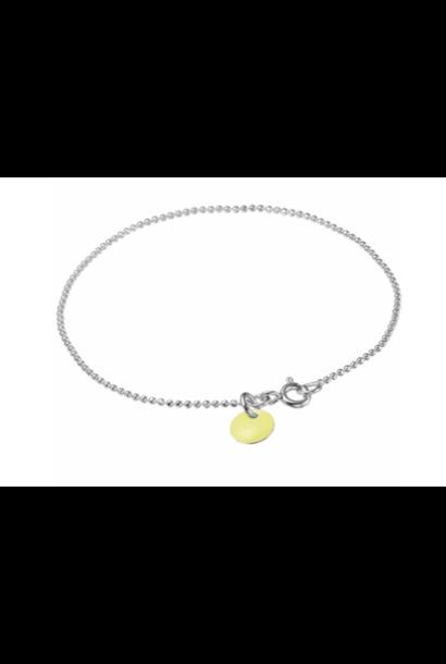Bracelet ball chain light yellow silver