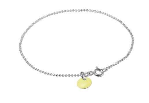 Bracelet ball chain light yellow silver-1