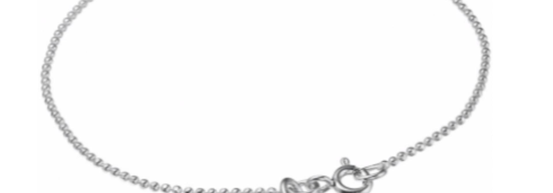 Bracelet ball chain Dusty green silver