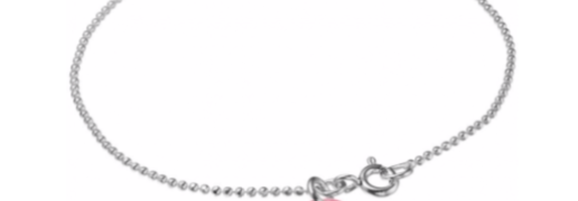 Bracelet ball chain Flamingo silver