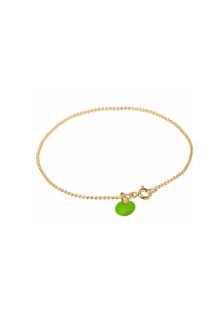 Bracelet ball chain neon green