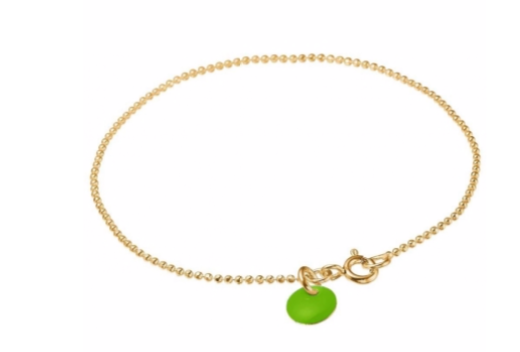 Bracelet ball chain neon green-1