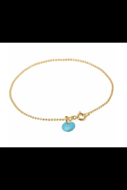 Bracelet ball turquoise blue