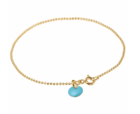 Bracelet ball turquoise blue-1