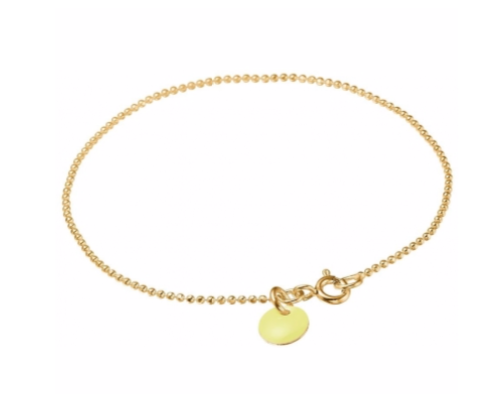 Bracelet ball chain new  light yellow-1