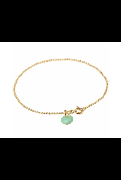 Bracelet ball chain Dusty green