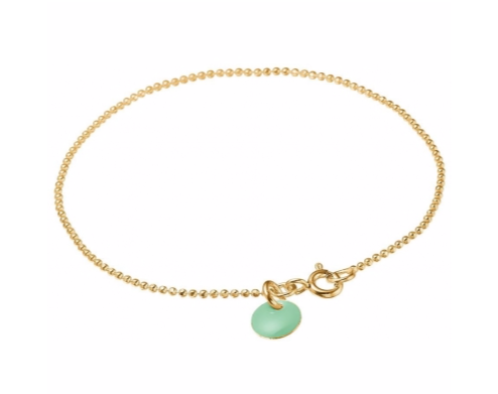 Bracelet ball chain Dusty green-1