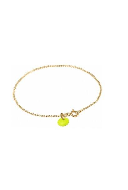 Bracelet ball chain neon yellow
