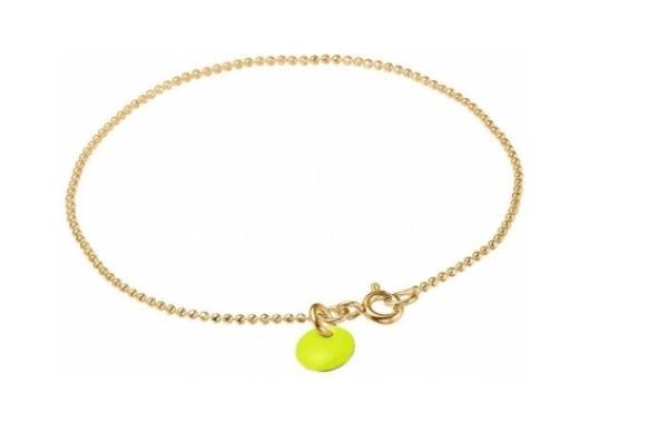 Bracelet ball chain neon yellow-1