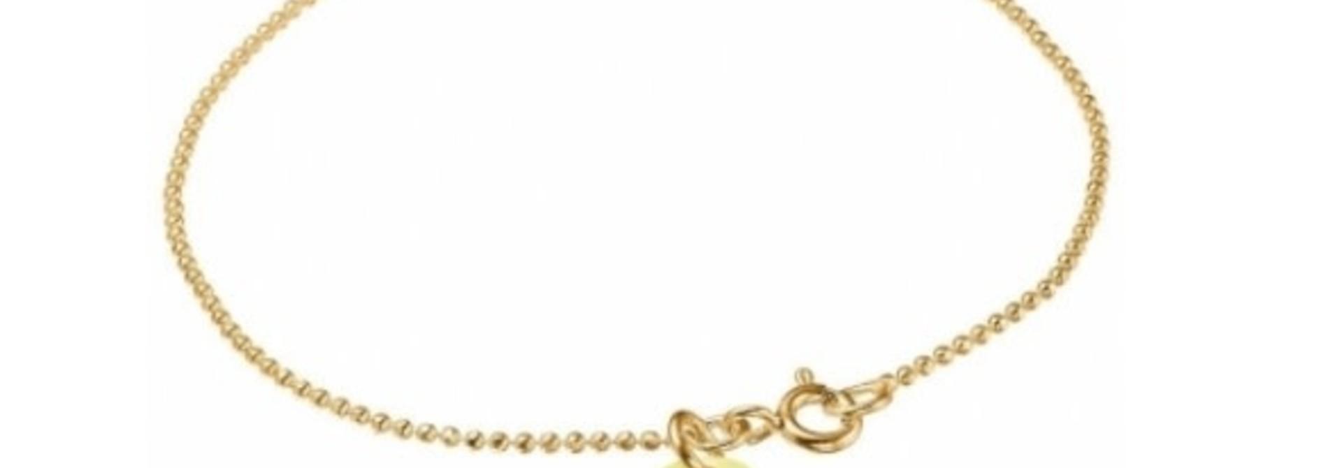 Bracelet ball chain light yellow