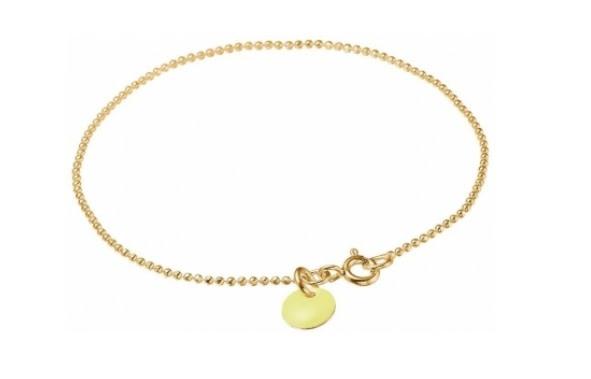 Bracelet ball chain light yellow-1