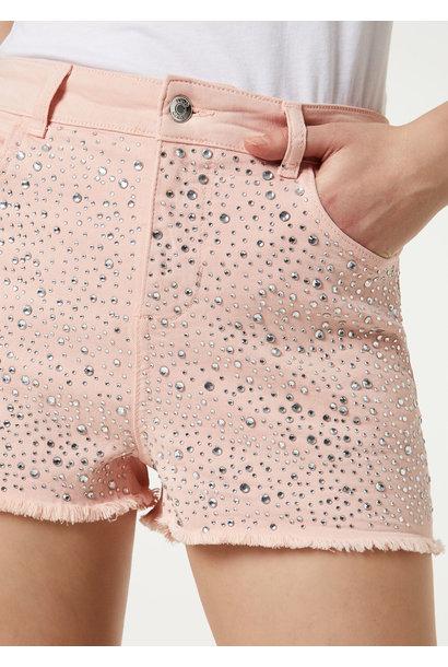 Short pink strass