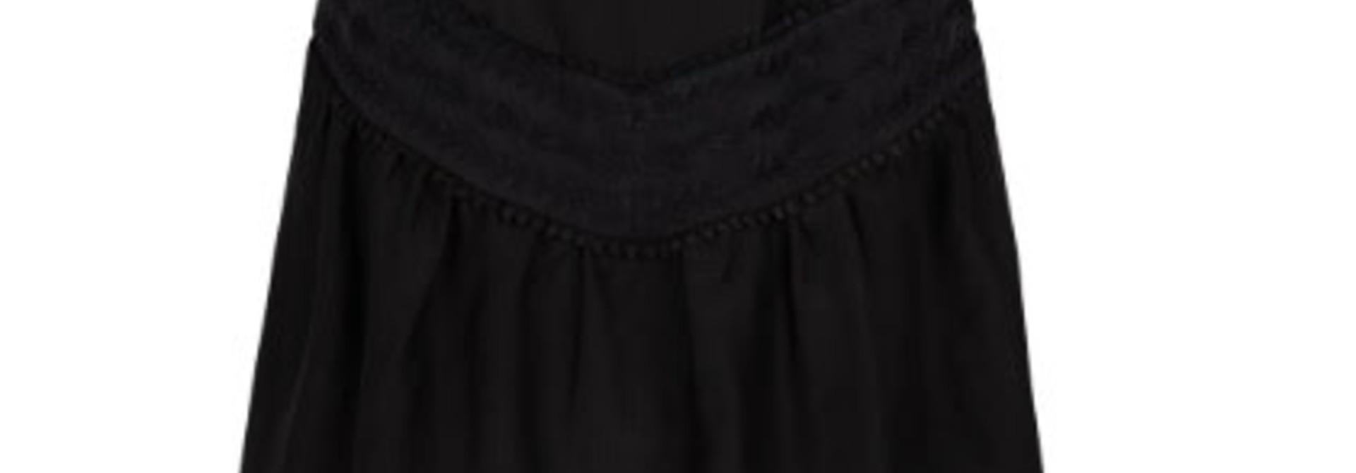 Loubi embroidery skirt raven