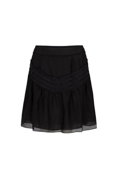 Loubi embroidery skirt raven