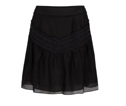 Loubi embroidery skirt raven-1
