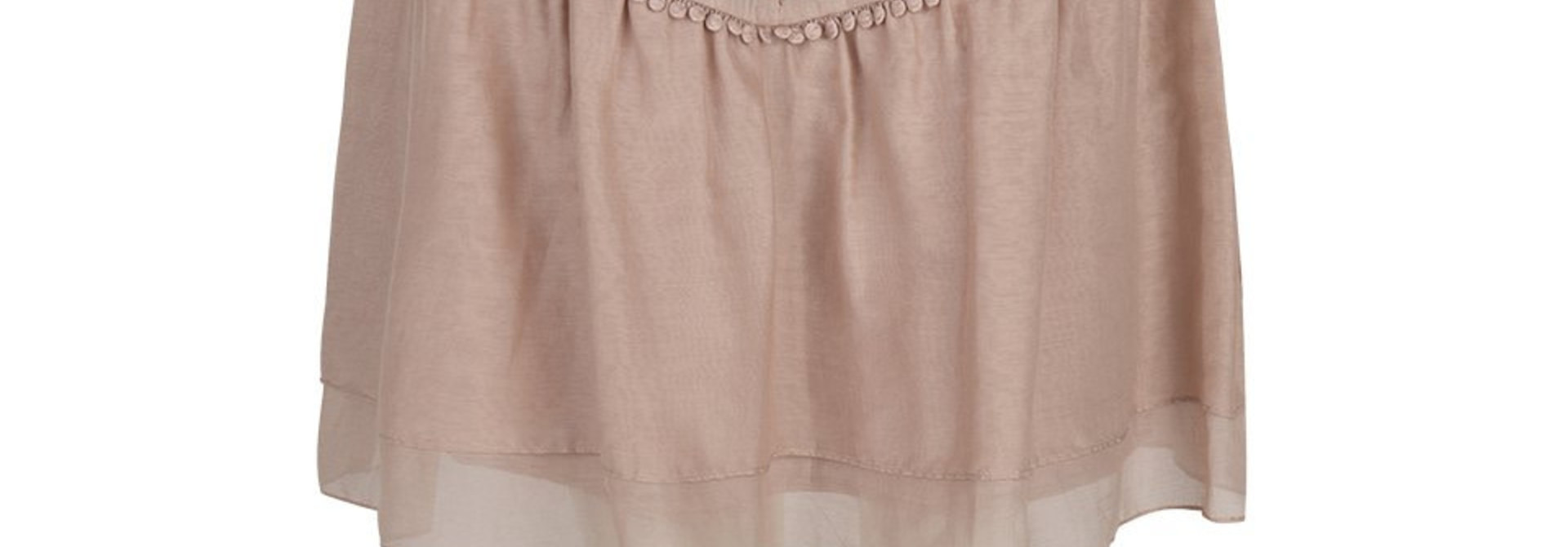 Loubi embroidery skirt oyster