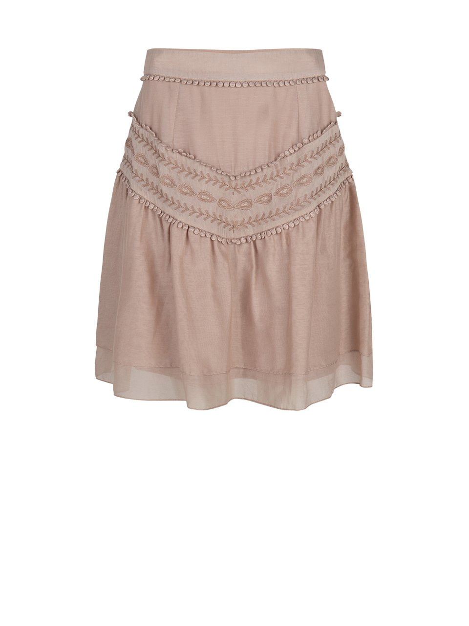 Loubi embroidery skirt oyster-1