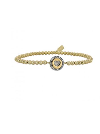 Bracelet gold cc heart