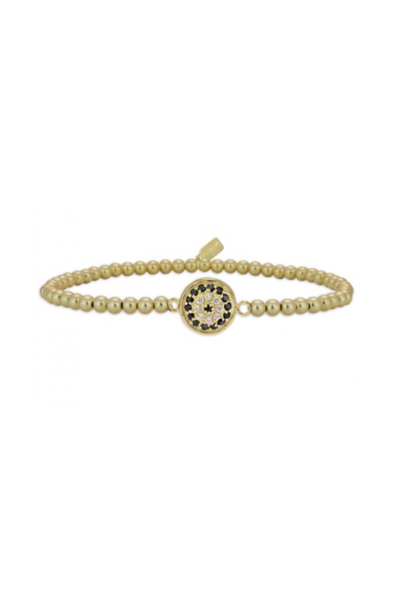 Bracelet Disc flower black/gold