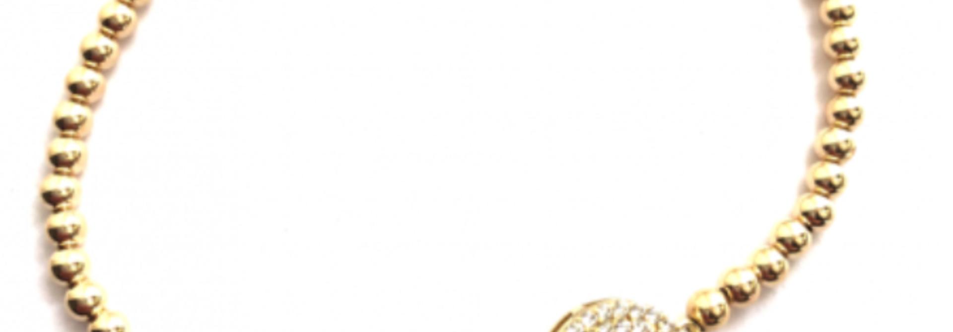 Bracelet smiley gold