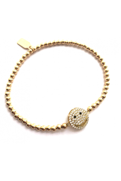 Bracelet gold smiley