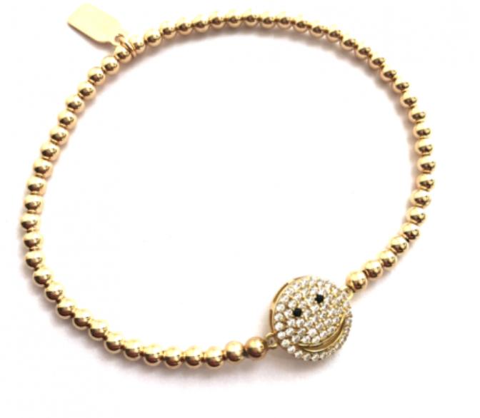 Bracelet gold smiley-1