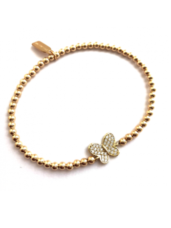 Ps Call Me Bracelet gold butterfly