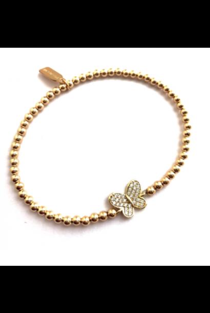 Bracelet gold butterfly