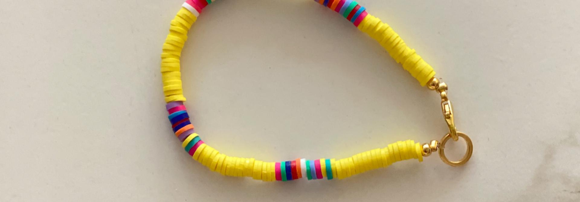 Surf armband geel