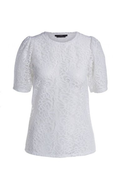 Top embroidery white
