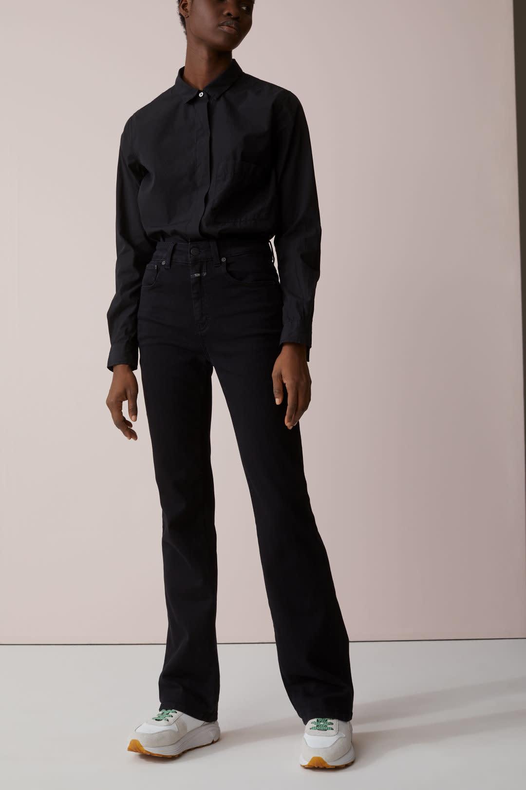 Leaf jeans black-1