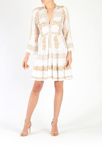 Mila dress embroidery white/gold-1