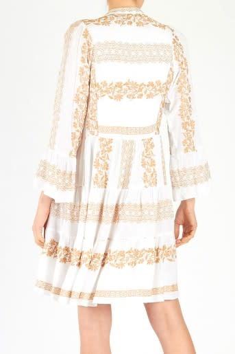 Mila dress embroidery white/gold-2