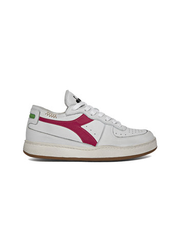 Diadora Baskets row cut white/fuschia
