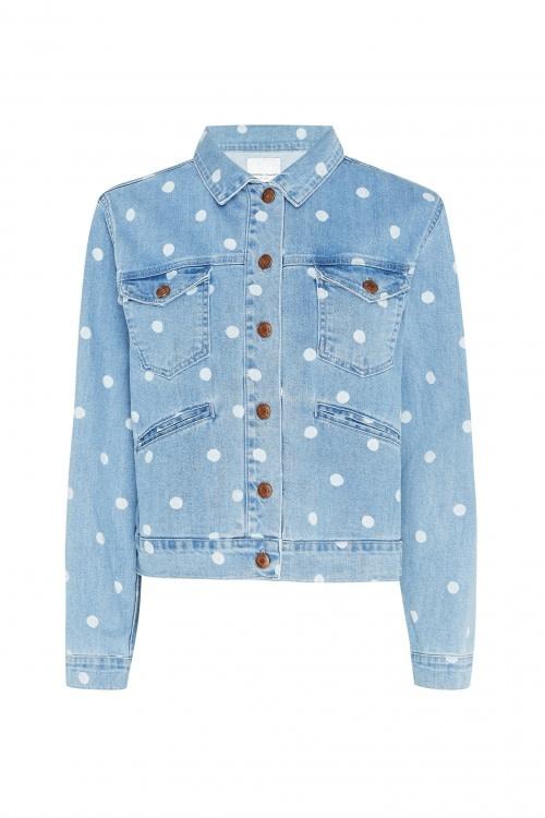 Cyprus dot denim jacket-1
