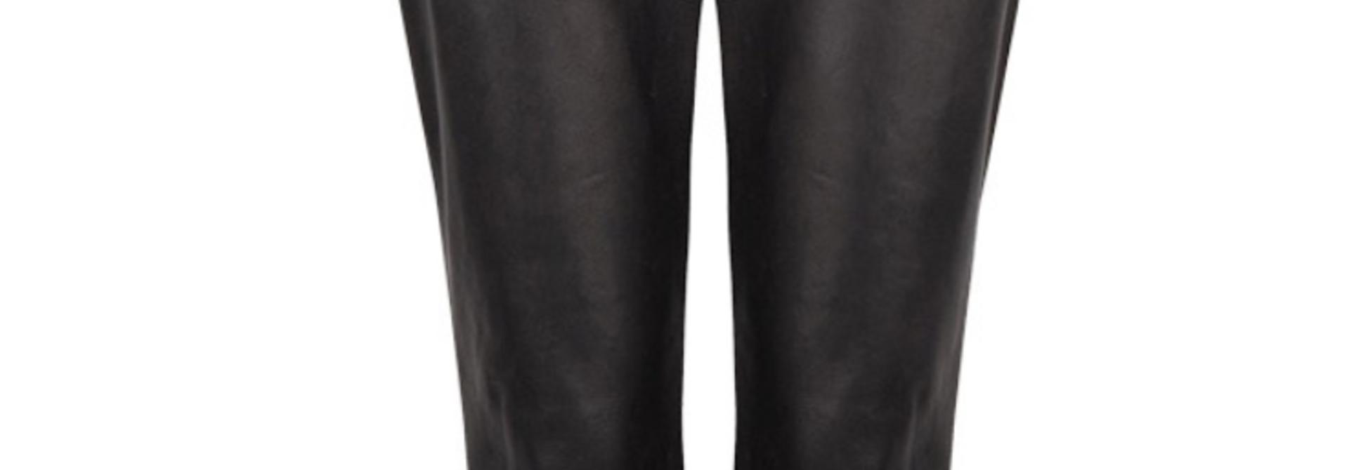 Duncan leather pants raven