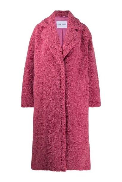 Maria coat berry pink