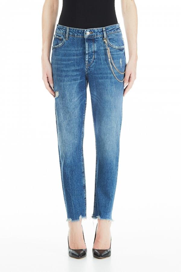 Bottom up cute high waist blue wash-5