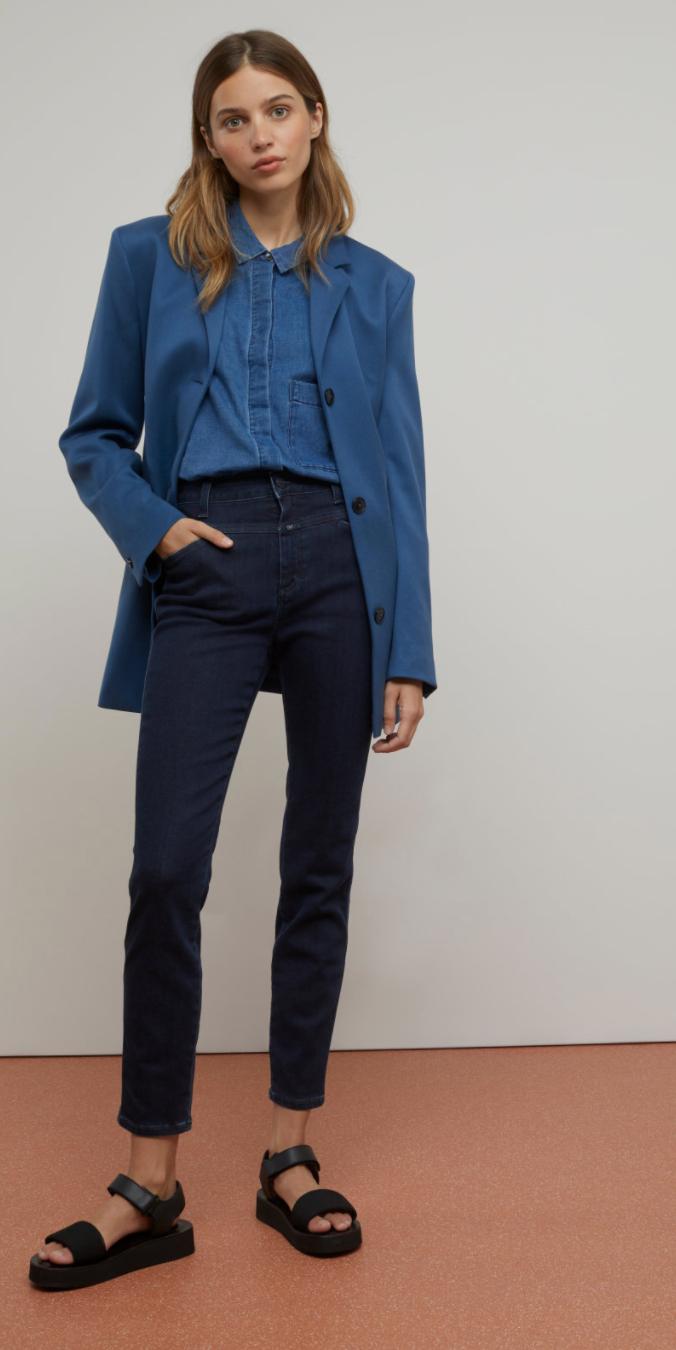 Skinny pusher - dark blue-1