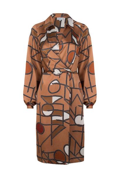 Madison chain print dress long