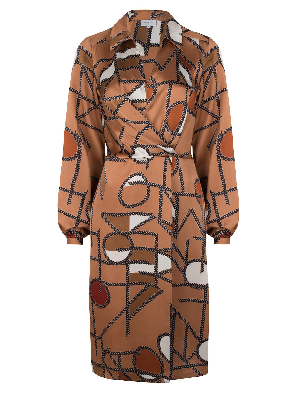 Madison chain print dress long-1