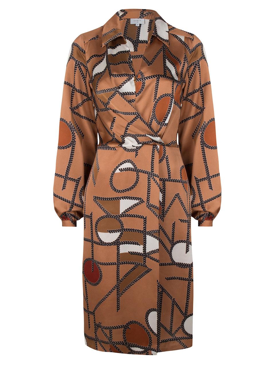 Madison chain print dress long-5