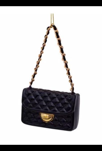 Kersthanger zwarte fashion bag ( H 7cm)
