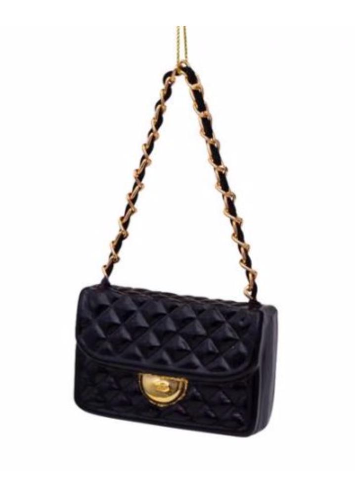 Kersthanger zwarte fashion bag ( H 7cm)-1
